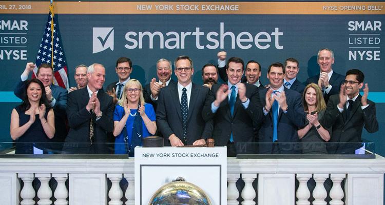 立足百亿美金市场, 营收增速超60%的协作平台Smartsheet上市即大涨 | 爱分析调研